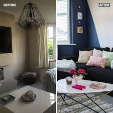 before and after see how this bland living room has been transformed
