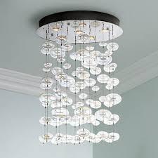 Possini Euro Design Chandelier Possini Euro Floating Bubble 6 Light Round Ceiling Fixture