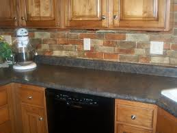 faux kitchen backsplash engaging grey brick tile backsplash white gray cabinets licious