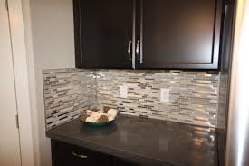 Glass Mosaic Tile Kitchen Backsplash Ideas Glass Loft Titanium Clay Mix Mosaic Aceent Tile For The Kitchen