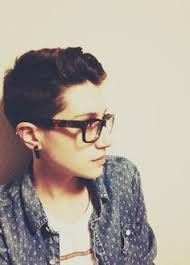 butch pixie haircut short haircuts with glasses queer fashion pinterest short