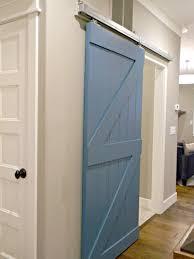 blue painted wooden indoor barn door of gorgeous indoor barn doors