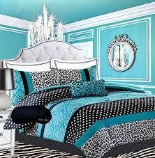 Comforter Sets For Teens Bedding by Girls Bedding Damask Leopard Comforter Black White Teal Aqua Blue