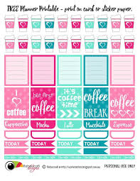 coffee planner stickers printable free printable planner stickers coffee print these planner