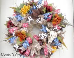 fall wreath scarecrow wreath autumn wreath deco mesh
