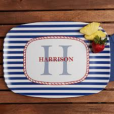 personalized melamine platter personalized melamine serving platter nautical for the home