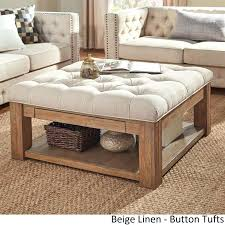 Kinfine Storage Ottoman Tufted Storage Ottoman Square The Best Tufted Ottoman Coffee Table