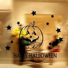 usa sales halloween window cling pumpkin head happy halloween