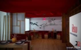 Mesmerizing  Red Restaurant Decoration Decorating Inspiration - Japanese restaurant interior design ideas