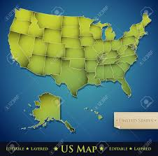 Map Of The 50 United States by United States Map With All 50 States Separated Vector Royalty