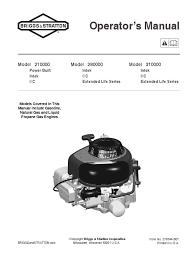 12 5 hp briggs parts manuals u0026 owners manual gasoline motor oil