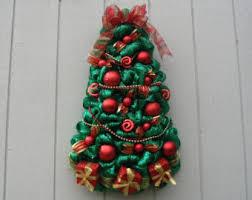 metallic green deco mesh tree wreath all