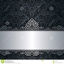 halloween invite background black u0026 silver vintage invitation background design stock vector