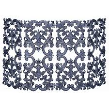 decorating wrought iron fireplace screen with new model design
