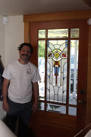 leaded glass door repair crosby glass studio