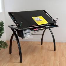 Walmart Drafting Table Studio Designs Futura Drafting Table With Glass Top Walmart