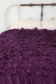 Duvet Cover Purple Waterfall Ruffle Duvet Cover Urban Outfitters