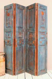 Reclaimed Wood Room Divider 4 Panel Reclaimed Door Screen Wood And Glass Room Divider Screen