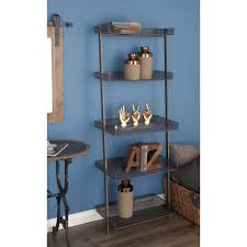 az home and gifts nexxt hadfield 5 tier wood leaning wall shelf in