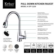 kitchen faucet with built in sprayer kraus single handle stainless steel high arch kitchen faucet with