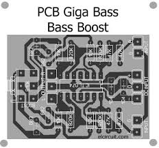 giga bass for bass boost circuit pcb audio schematic pinterest