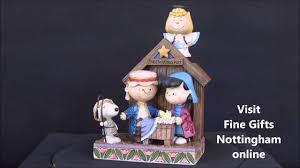 brown snoopy nativity figurine play peanuts