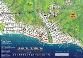 Map Mexico Mapa Jeff Cartography Puerto Vallarta Maps