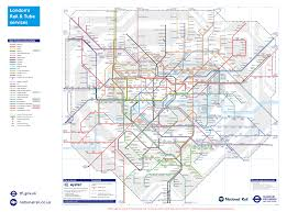 underground map and rail transport for