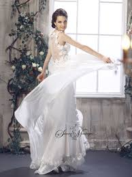 style boheme chic robe de mariee empire fluide en mousseline style boheme chic robe