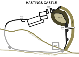 Medieval Castle Floor Plan by Hastings Castle South East Castles Forts And Battles