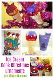 get crafty with these christmas in an ice cream cone ornaments