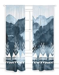 Teal Blackout Curtains Mountain Meadow Blackout Curtain Panel Rock U0026 Rollick