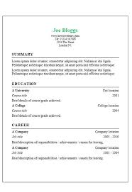 Classic Resume Template Write Cv Template 28 Images Personal Statement Resume The Best