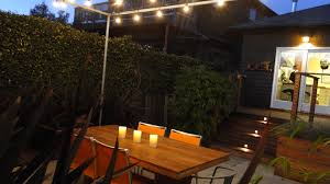 Patio Cafe Lights by Fire Lazar Landscape