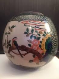 Japanese Kutani Vases Rare Tokuda Yasokichi I 1874 1956 Japanese Kutani Vase 8