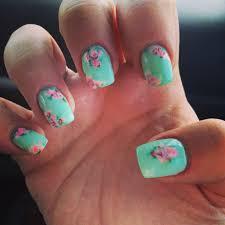 handpainted floral gel nails by victoria brown brown lynn at