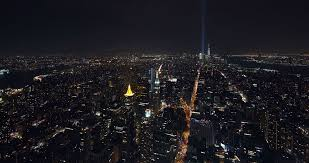editorial new york city skyline time lapse at night tribute in