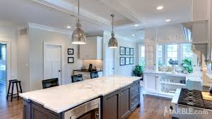 marble island kitchen marble island with contrasting granite countertops