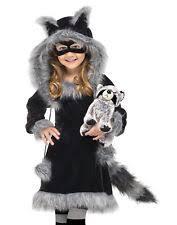 Fluffy Halloween Costumes Raccoon Costume Ebay