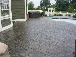 Photos Of Stamped Concrete Patios by Stamped Concrete Deck Around Pool The Stamp Store Concrete