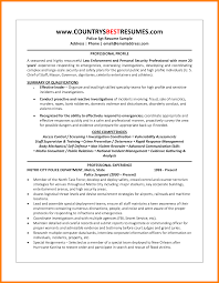 Security Officer Resume Template 5 Police Officer Resume Samples Address Example