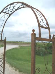 wrought iron skyview arbor flower arch trellis