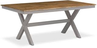 Sofa Back Table by Nantucket Trestle Table And 4 Slat Back Chairs Oak And Gray