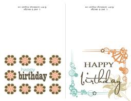 Birthday Card Print Template Free Birthday Card Generator Printable Together With
