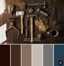 a rust inspired color palette a color silver metal and color