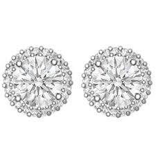 diamonds earrings flower diamond earrings from mdc diamonds nyc
