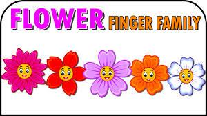 flowers cartoons animation singing finger family nursery rhymes