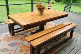farmhouse picnic table and bench set