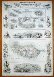 Azores Map Portuguese Islands In The Atlantic Madeira Azores Fullarton