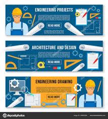 vector banners home interior design work tools u2014 stock vector